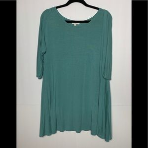 Umgee Green Tunic Top Size Small